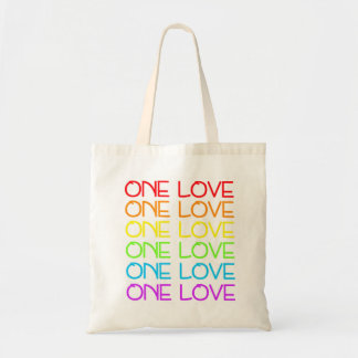 One Love Rainbow Pride Tote Bag
