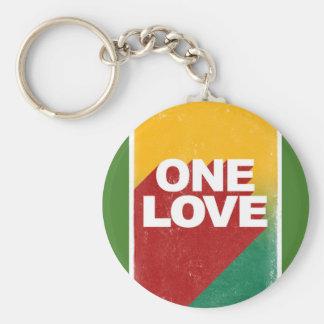 One love rasta keychain