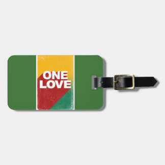 One love rasta luggage tag
