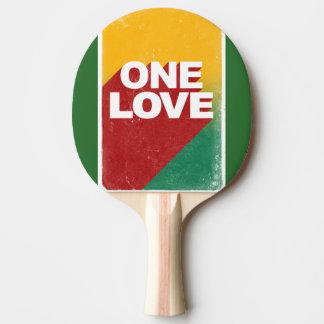 One love rasta Ping-Pong paddle