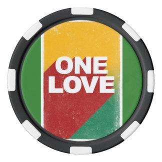 One love rasta poker chips