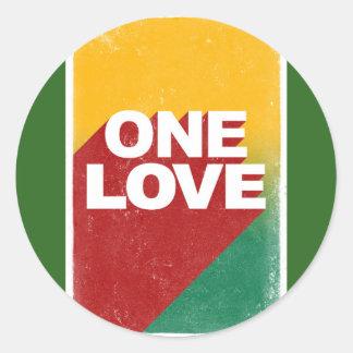 One love rasta round sticker