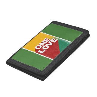One love rasta trifold wallets