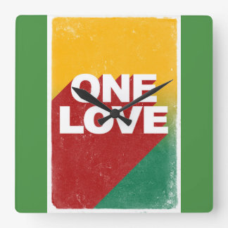 One love rasta wallclock