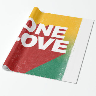 One love rasta wrapping paper