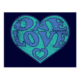 One Love Retro Postcard