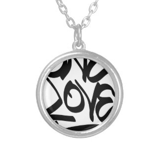 one-love silver plated necklace