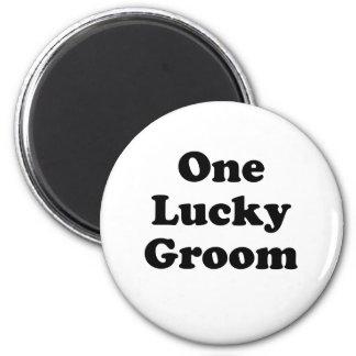 One Lucky Groom Refrigerator Magnet