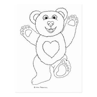One Lucky Teddy Postcard