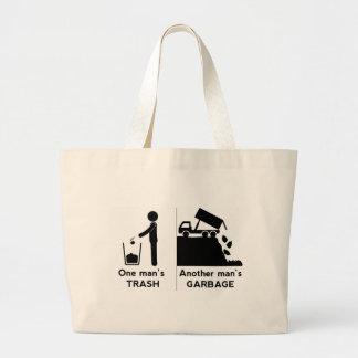 One Mans Trash Large Tote Bag