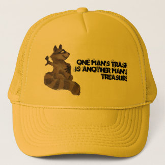 One man's trash trucker hat