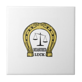 one measured luck tile