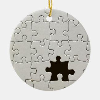 One Missing Puzzle Piece Ceramic Ornament