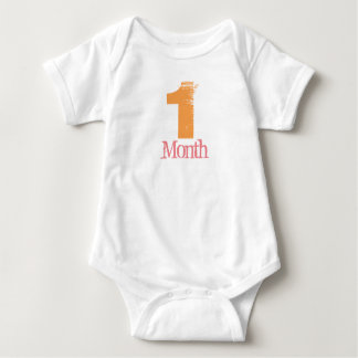 One Month Body Suit Baby Bodysuit