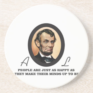 one more abe quote drink coaster