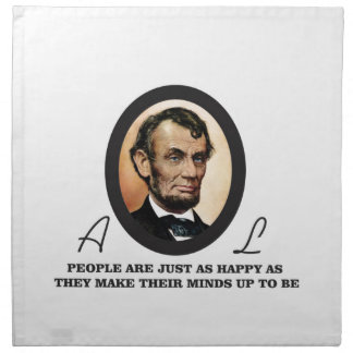 one more abe quote napkin