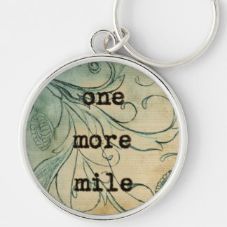 One More Mile keychain for runners