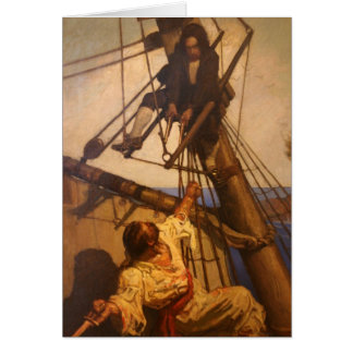 One more step Mr. Hands - N.C. Wyeth painting Card