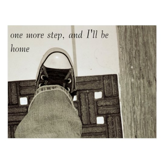 one more step postcard