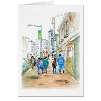 One morning on the street card