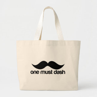 ONE MUST DASH (MOUSTACHE) LARGE TOTE BAG