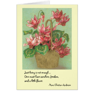 One must have sunshine, freedom, & a little flower card