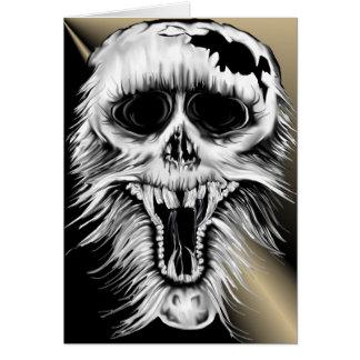 One Nasty Skull Card