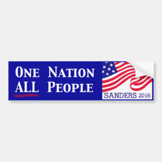 One Nation, All People Bumper Sticker