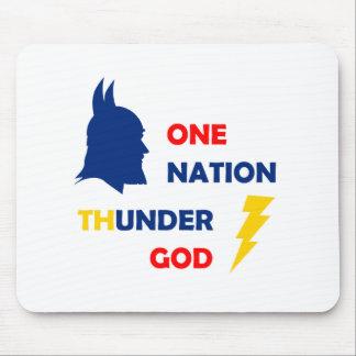 One Nation Thunder God Mouse Pad