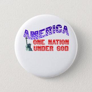 One Nation Under God 2 Inch Round Button
