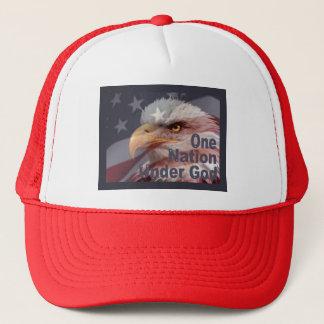 ONE NATION UNDER GOD by SHARON SHARPE Trucker Hat