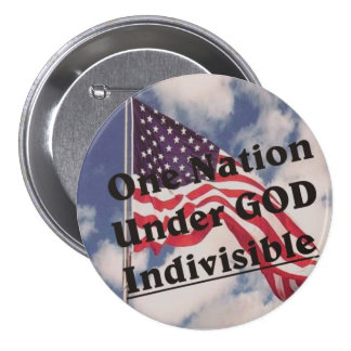 One Nation under GOD Indivisible 3 Inch Round Button