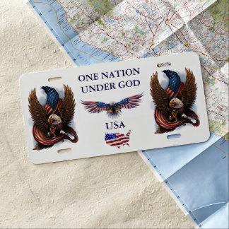 ONE NATION UNDER GOD / USA LICENSE PLATE
