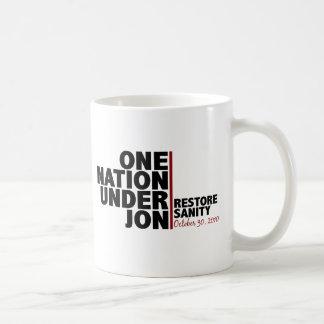 one nation under jon (stewart) coffee mug