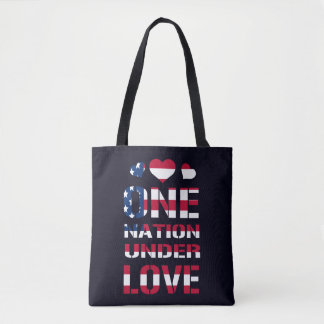 One Nation Under Love Tote Bag