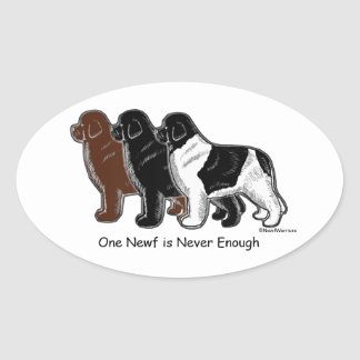 One Newf is Never Enough Oval Sticker