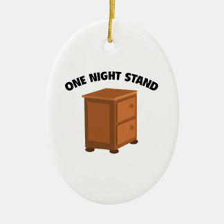 One Night Stand Ceramic Oval Ornament