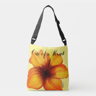 One of a Kind Hibiscus Bag