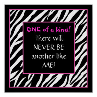 One of a kind! hot pink zebra poster