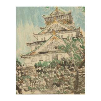 One of a Kind Osaka Castle Monotype Print