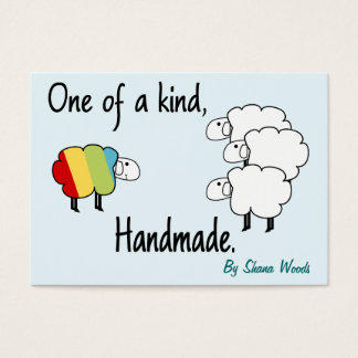 One Of A Kind Rainbow Sheep Hang Tag Business Card