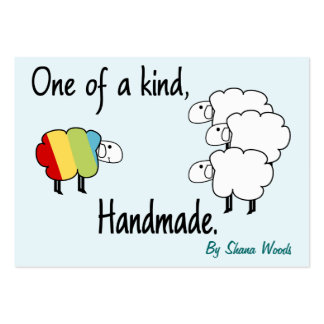 One Of A Kind Rainbow Sheep Hang Tag Large Business Card
