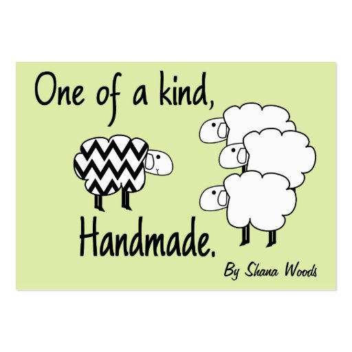 One Of A Kind Sheep Hang Tag Business Card Template