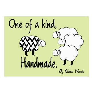 One Of A Kind Sheep Hang Tag Large Business Card