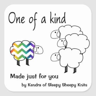 One of a Kind Sheep Sticker