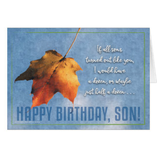 One-of-a-Kind Son Birthday Card