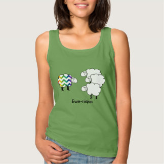 One of a Kind, Unique Sheepy Tank Top