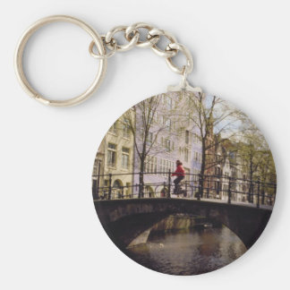One of Amsterdam's nearly 1,300 bridges crossing i Keychain