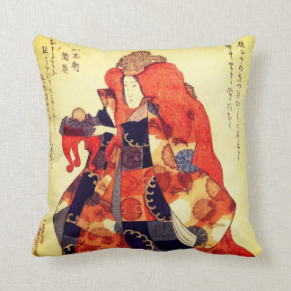 One of the Daughters of the Dragon King Throw Pillow