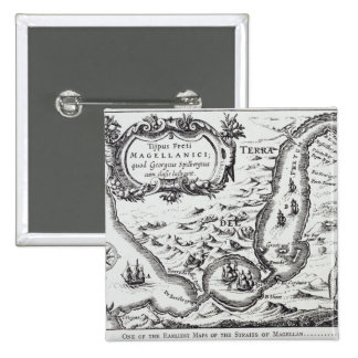 One of the earliest maps of the Magellan 2 Inch Square Button